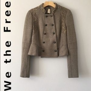 We the Free Peplum Military Short Lace Jacket | 6